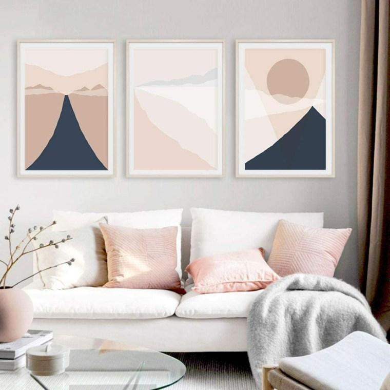 pared-sala-rosa-gris-combinado