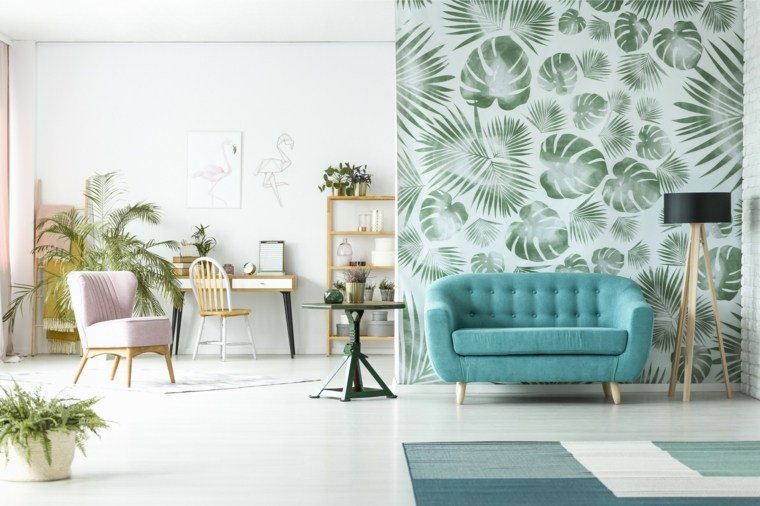 paredes-motivos-tropicales-lampara gris