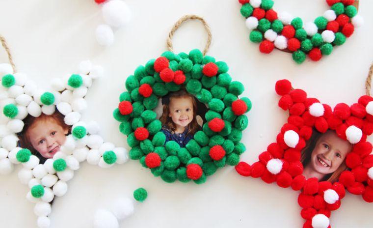 pompones adornos navidad