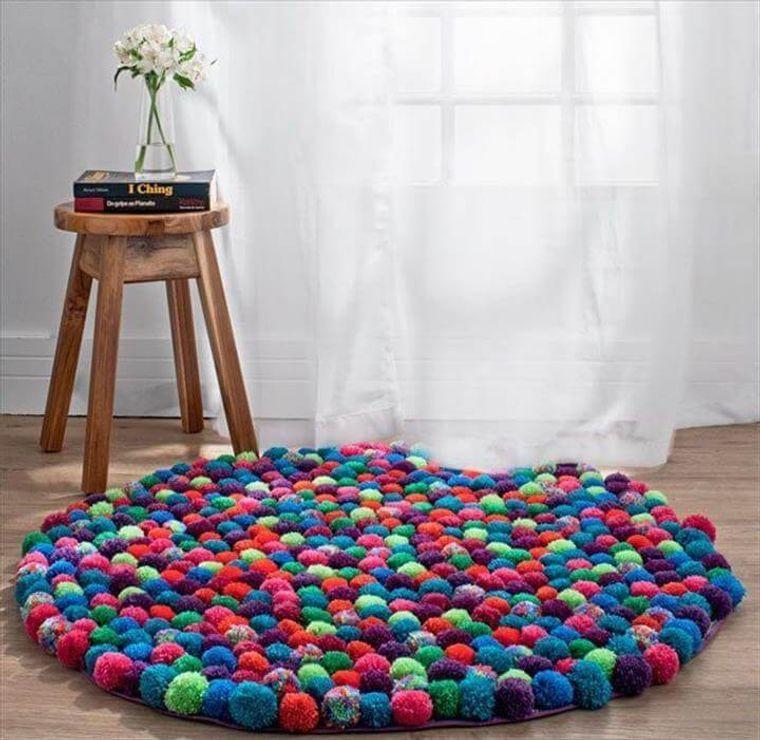 pompones alfombra