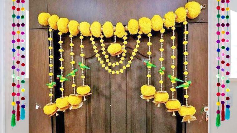 pompones amarillos