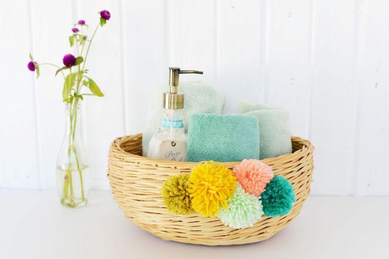 pompones baño