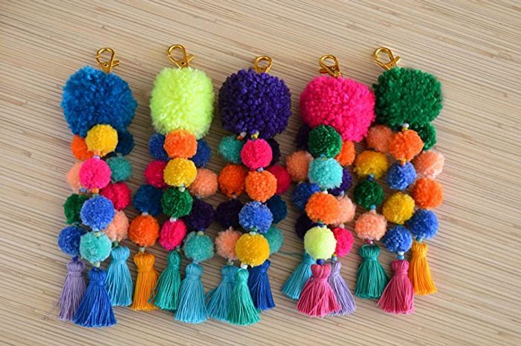 pompones colores