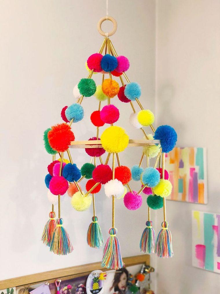 pompones decoracion para hogar