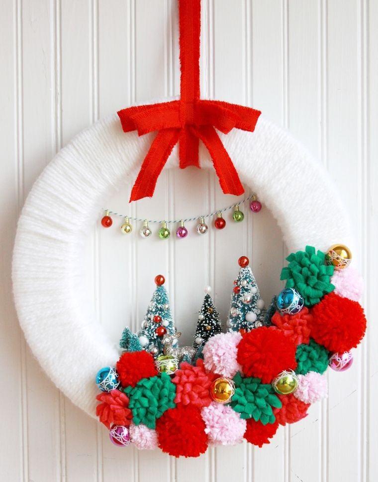 pompones fiesta navidades