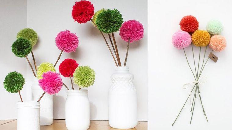 pompones flores