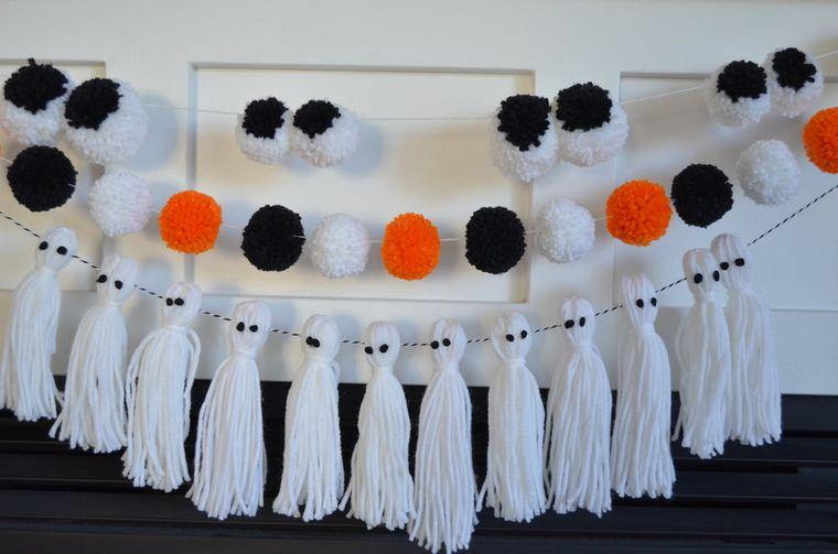 pompones para halloween
