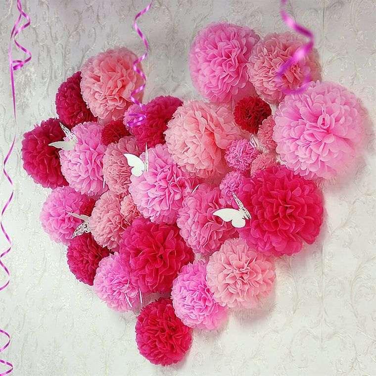 pompones rosados