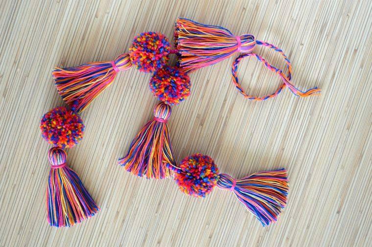 pompones varios colores