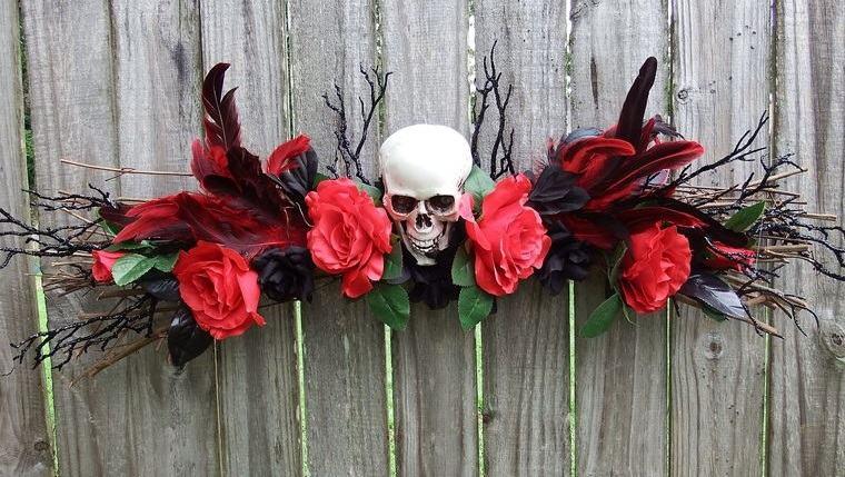 rojo y negro en halloween