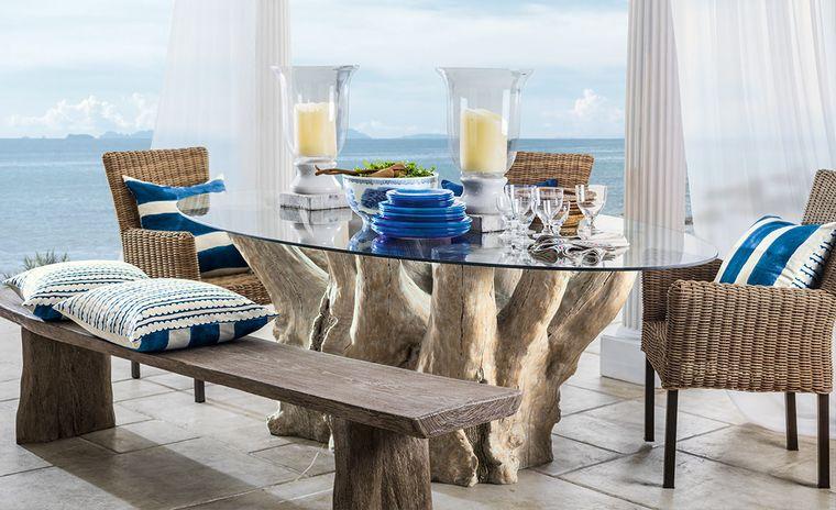 solárium con mesa original