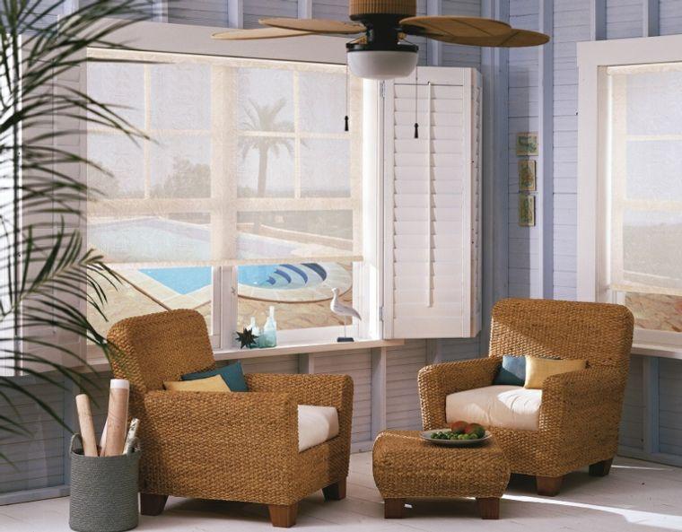 solárium muebles sencillos