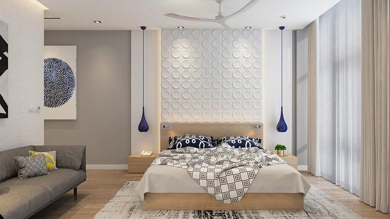 Dormitorio blanco y madera en estilo femenino – 30 Ideas originales