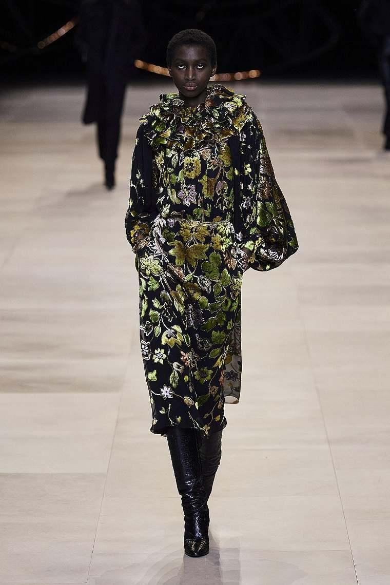 Diseño floral-motivos-florales-vestido-Celine