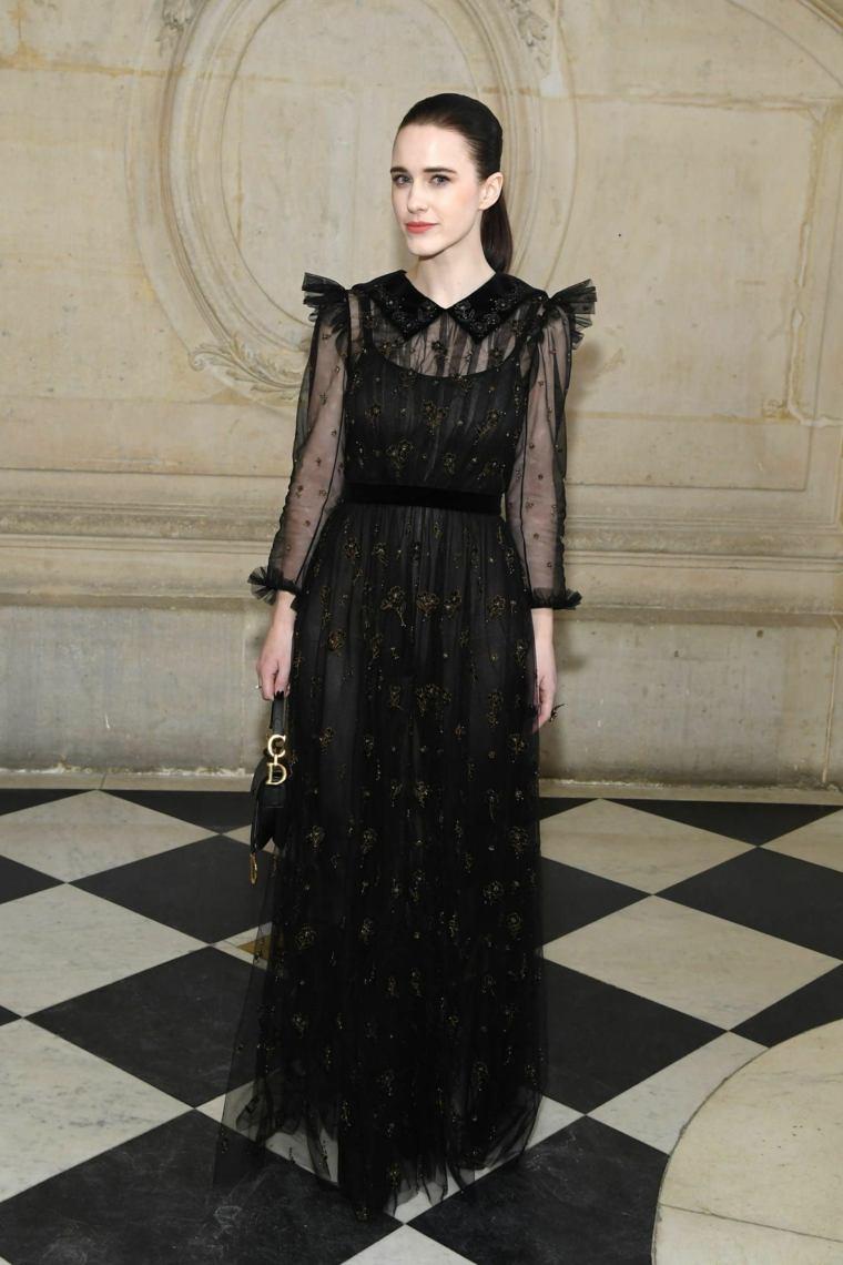 Vestido negro básico largo-tul