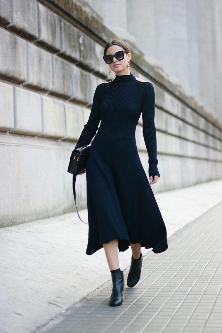 Vestido-negro-celine-largo