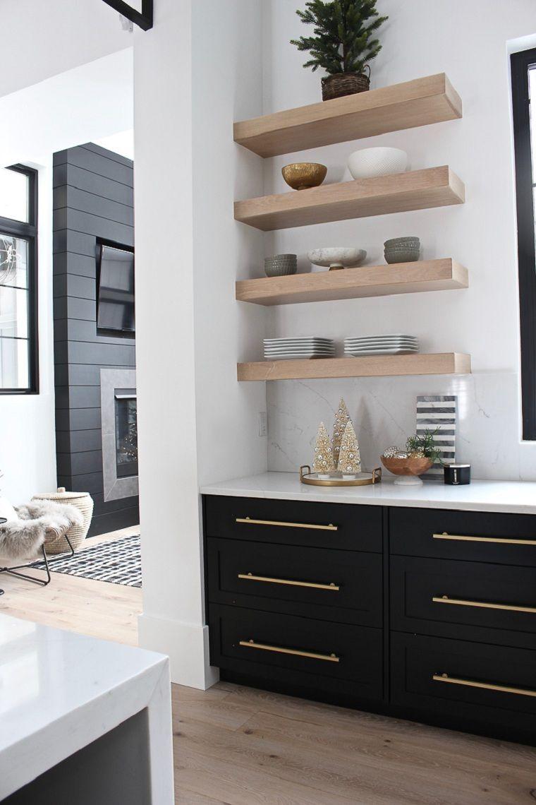 arboles-pequenos-cocina-moderna-deorada