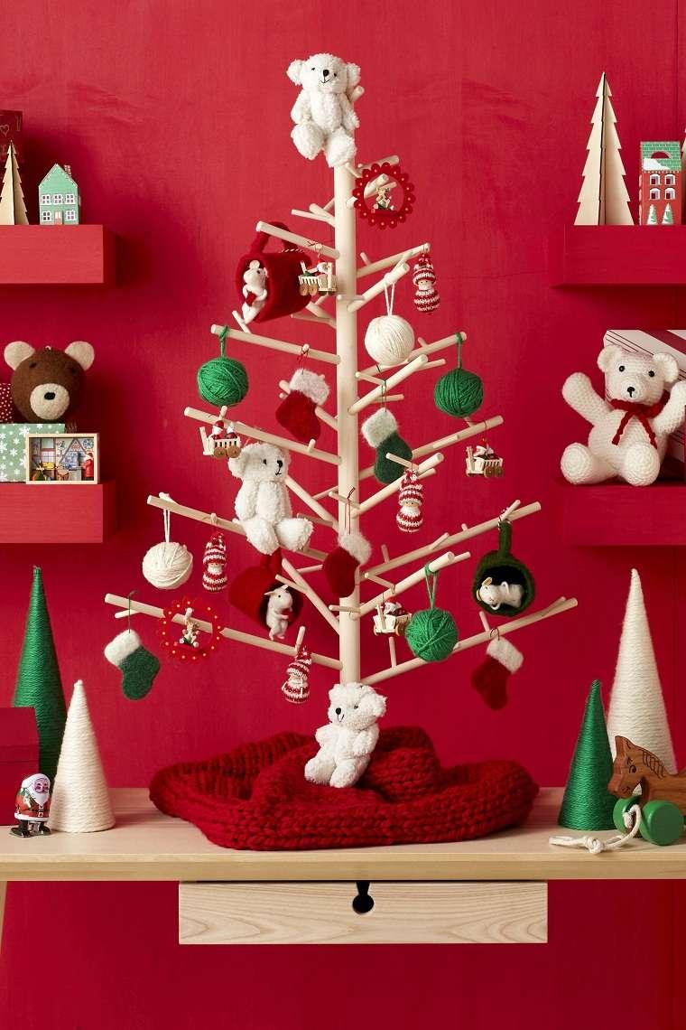 árboles pequeños-colores-adornos-ideas