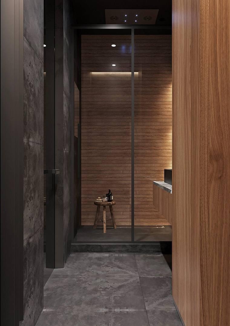 bano-lavabo-color-negro-paredes-madera