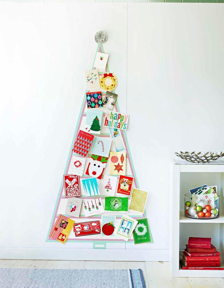 bricolaje casero con tarjetas navideñas