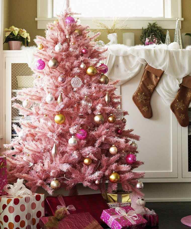 color-rosa-arbol-estilo-navidad-2020