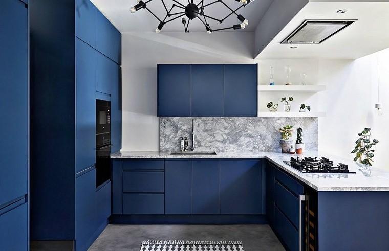 Colores de muebles de cocina azul