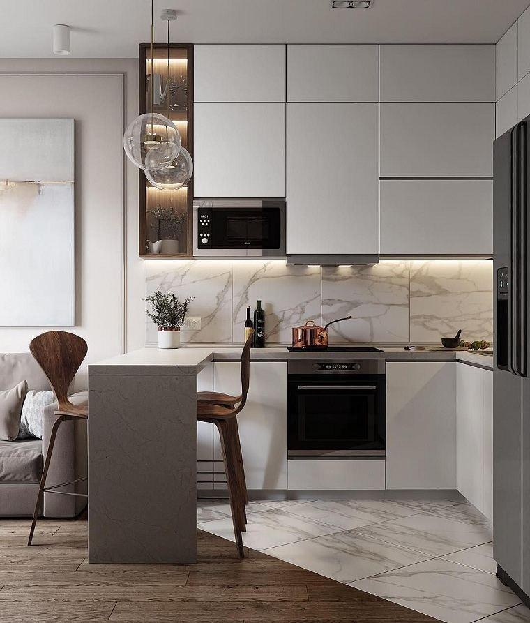 Colores de muebles de cocina -blanca