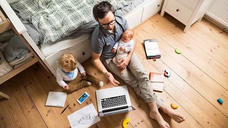 Cómo ser más productivo -mientras-trabajas-casa-ninos