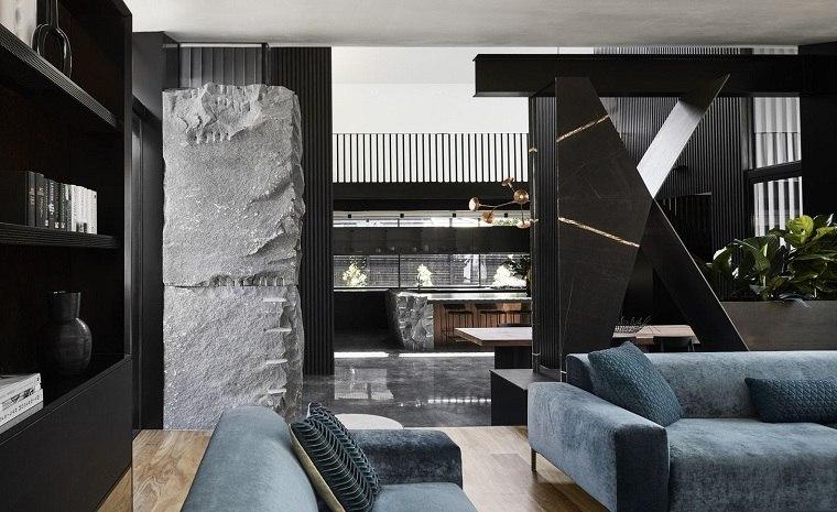 Cuartos gris con negro ideas-paredes