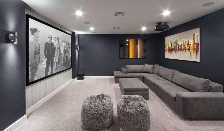 Cuartos gris con negro salon-muebles