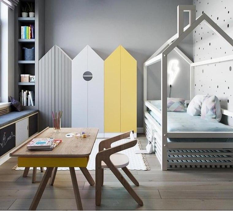 decoración dormitorios infantiles almacenamiento original