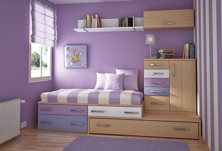 decoración dormitorios infantiles almacenamiento