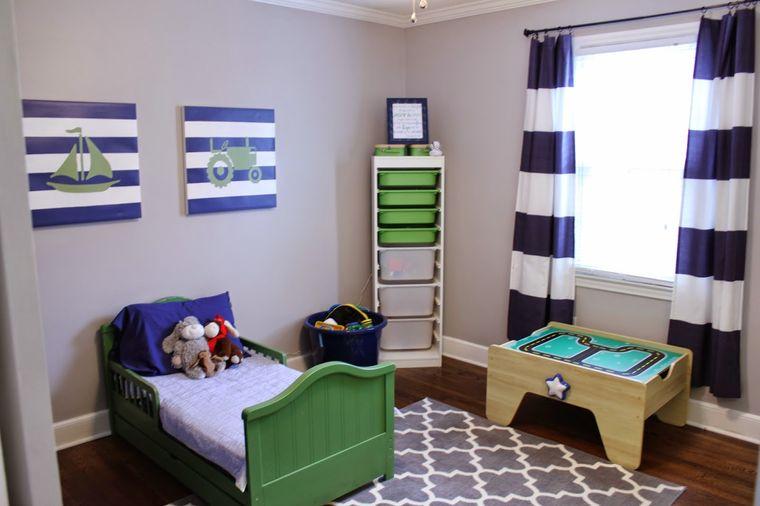 decoración dormitorios infantiles con alfombra