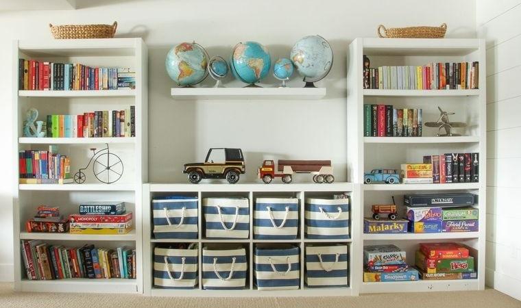 decoración dormitorios infantiles estante almacenamiento