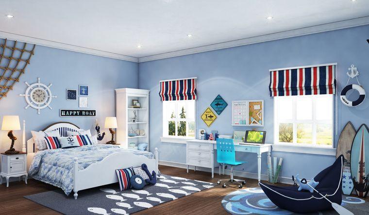 decoración dormitorios infantiles estilo costero