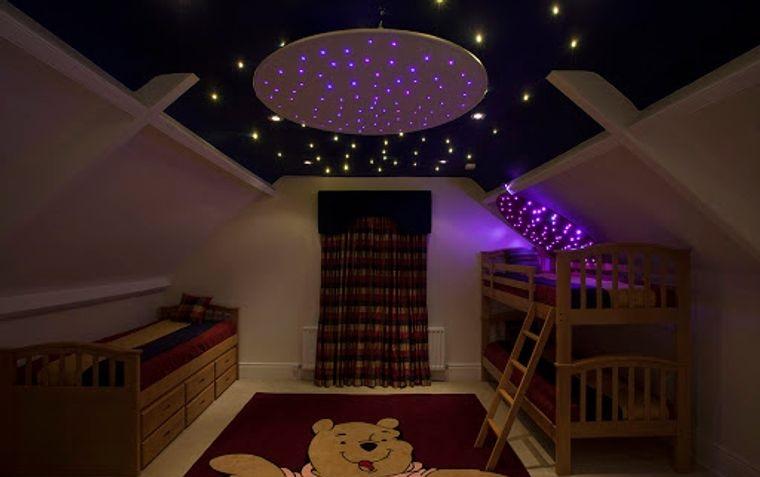 decoración dormitorios infantiles iluminacion nocturna