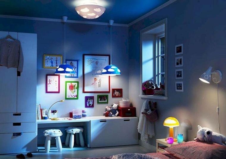 decoración dormitorios infantiles iluminacion