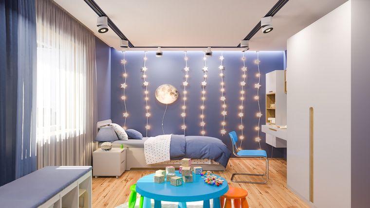 decoración dormitorios infantiles luces