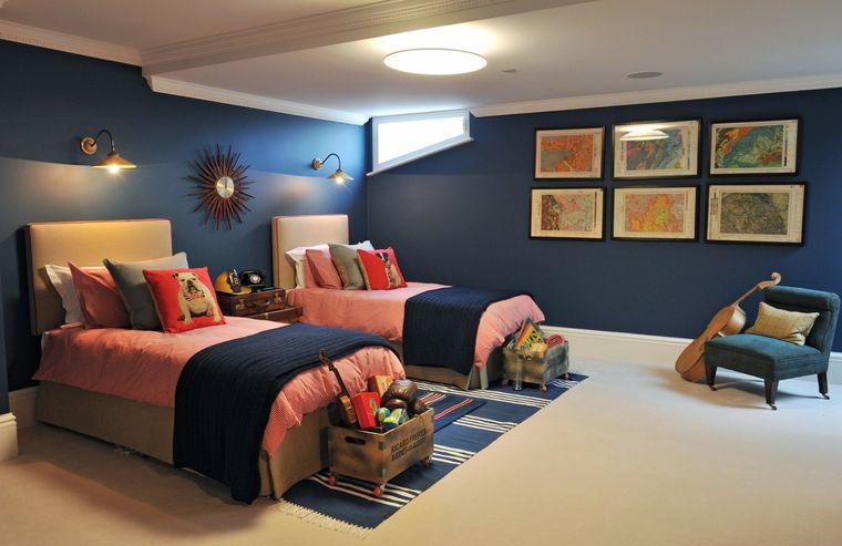 decoración dormitorios infantiles luz techo