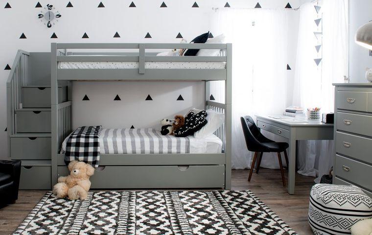 decoración dormitorios infantiles papel tapiz
