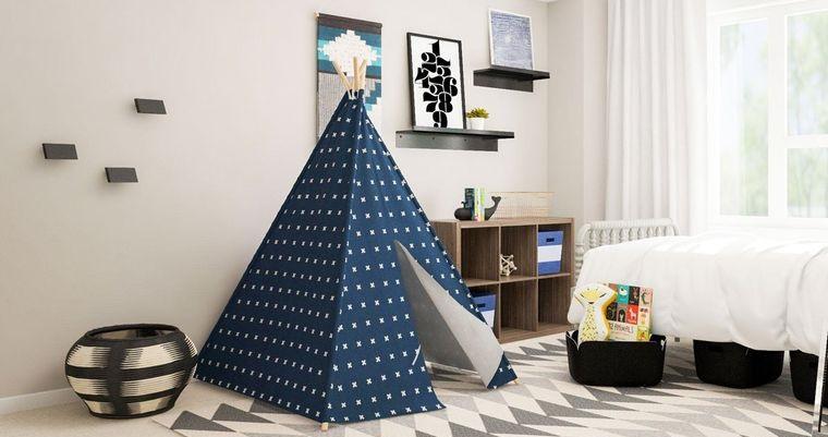 decoración dormitorios infantiles tipi alfombra
