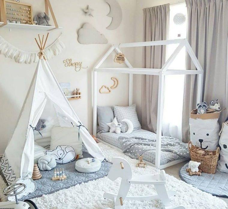 decoración dormitorios infantiles tonos claros