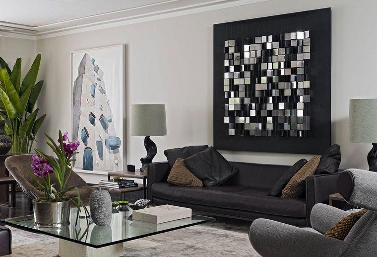 decoración moderna arte pared acento