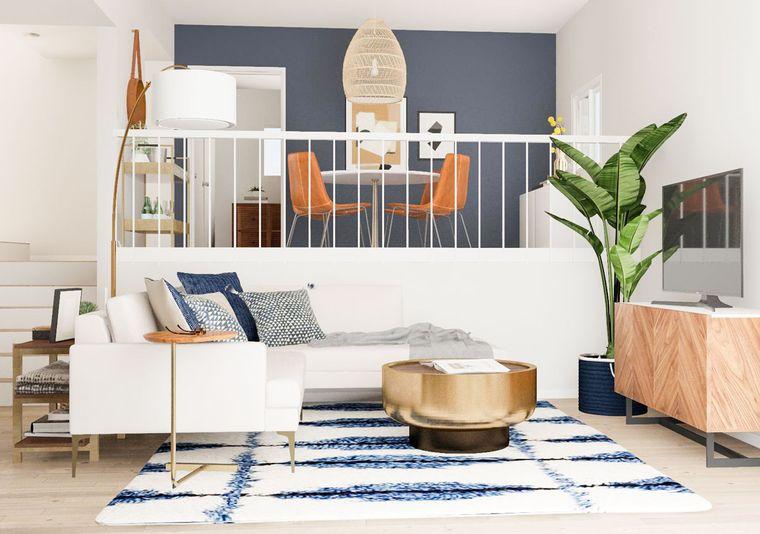 decoración moderna espacio pequeño