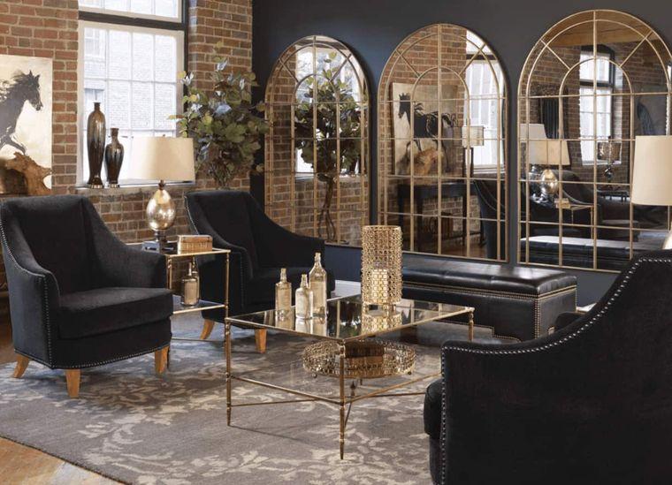 decoración moderna espejos