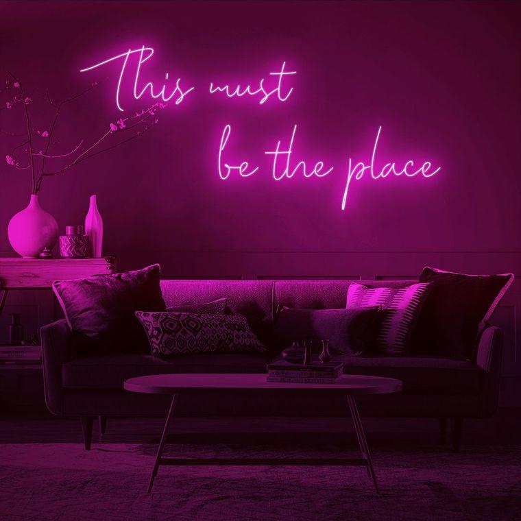 decoración moderna luces de neon