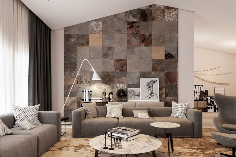 decoración moderna muebles marmol