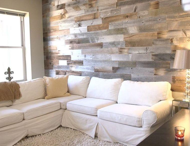 decoración moderna pared madera
