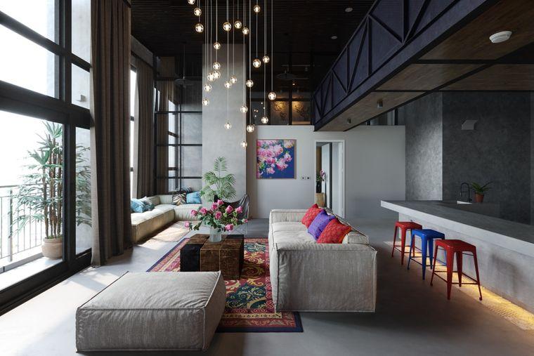 decoración moderna sala de estar