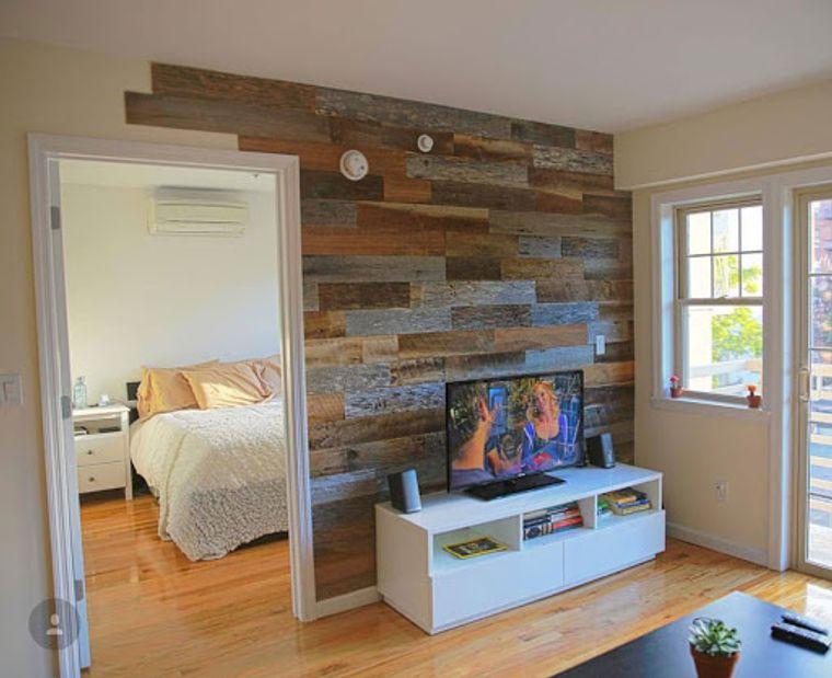 decoración moderna tablas pared
